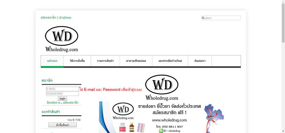Wholedrug.com-ขายส่งยา-เปิดร้านยา-ยี่ปั๊วยา-วิธีการสั่งซื้อ-1